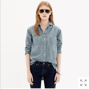 Madewell• Chambray denim shirt in wilder wash